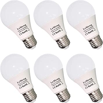 12v Led Light Bulb 7w 630lm Low Voltage E26 Base 6000k Daylight White Ac Dc 12 24volt 40 60watt A19 Bulbs Equivalent Landscape Yard Battery Power System Off Grid Solar Lighting 6 Pack