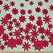 Moda Winter's Lane Poinsettias Mint Fabric