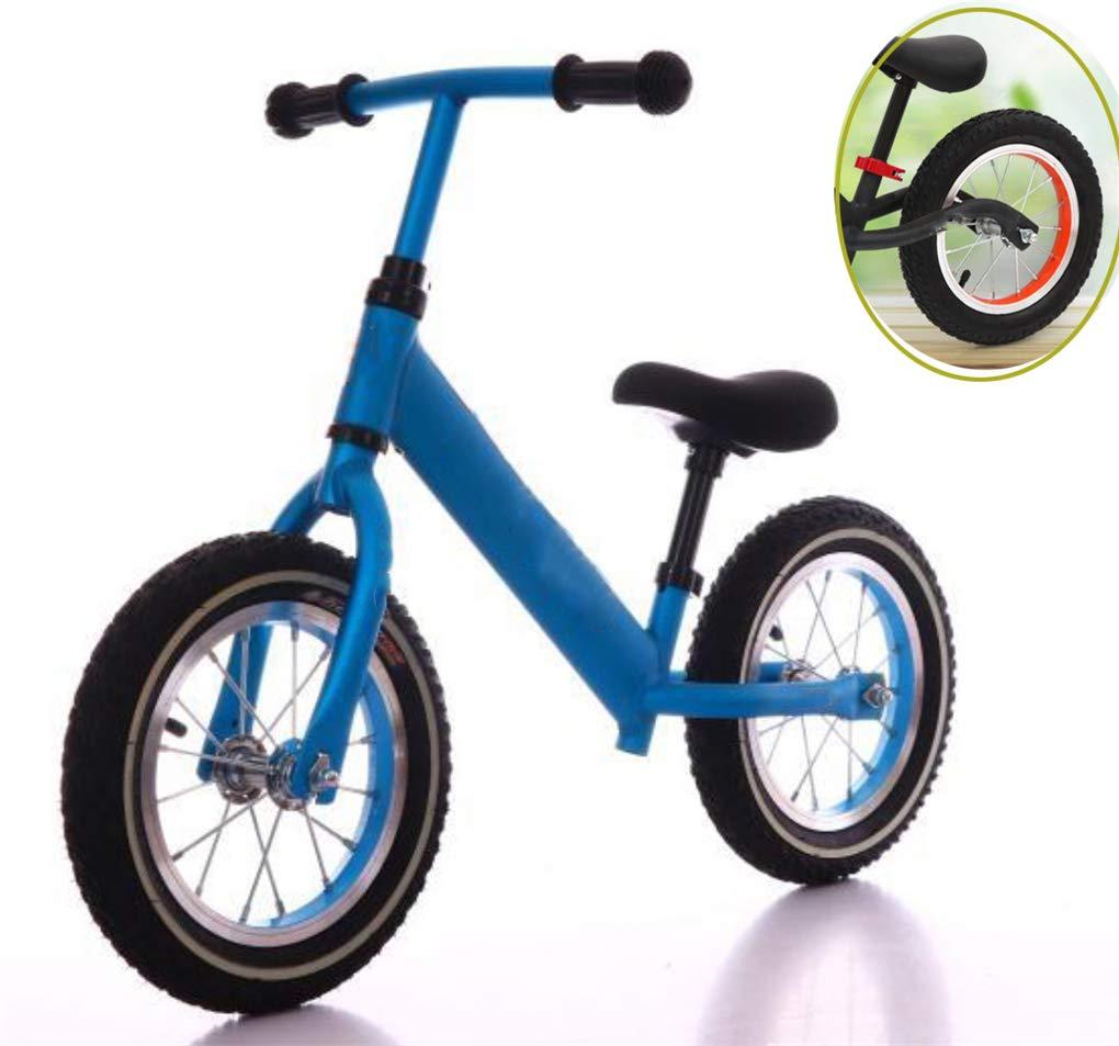 ZQZN niños Dos Ruedas Equilibrio Bicicleta para niños Scooter Baby Walker 2-7 años Equilibrio en Bicicleta Paseo en Juguetes Regalo para bebé Juguetes - Equilibrio en Bicicleta sin Pedal,Blue