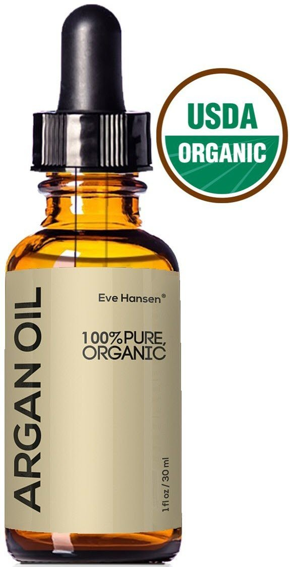 USDA Certified Organic Argan Oil - Natural Moroccan Oil for Skin and Hair Treatment by Eve Hansen - 1 Ounce