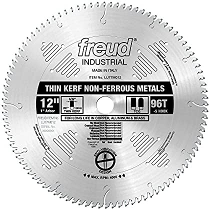 Image of Freud 12' x 96T Thin Kerf Non-Ferrous Metal Blade (LU77M012) Home Improvements