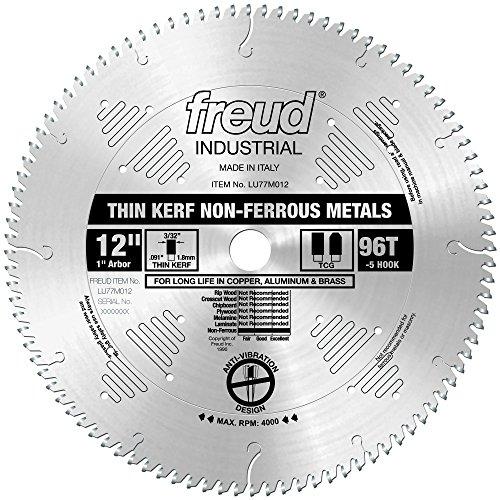 "Freud 12"" x 96T Thin Kerf Non-Ferrous Metal Blade (LU77M012)"