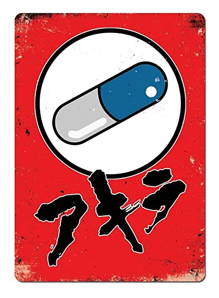 LORENZO Akira Pill Fan Art Vintage Metal Cartel de Chapa ...