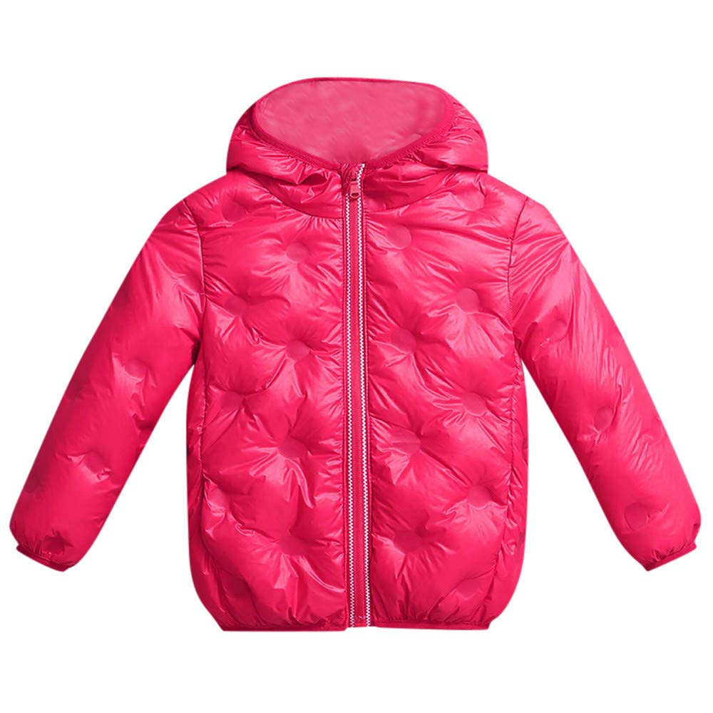 Baby Boys Girls Lightweight Water-Resistant Packable Hooded Puffer Jacket