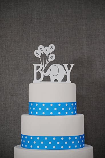 Amazoncom Its A Boy Cake Topper Baby Cake Topper Gender Reveal