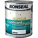 Ronseal One Coat Cupboard Melamine & MDF Paint White Gloss 750ml