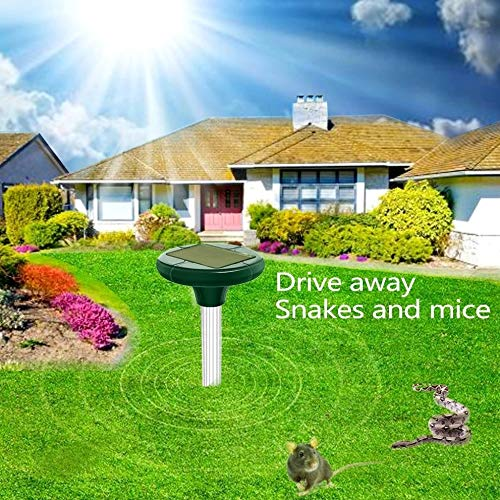 OOSMA Solar Powered Snake Repellent,Snake Repellent Safe for Dogs,Snake Repellent for Outdoors,Snake Away Repellent, Get Rid of Snakes in Yard,Lawn,Garden Combo 2 PCS (B07TSVRVZ6) Amazon Price History, Amazon Price Tracker