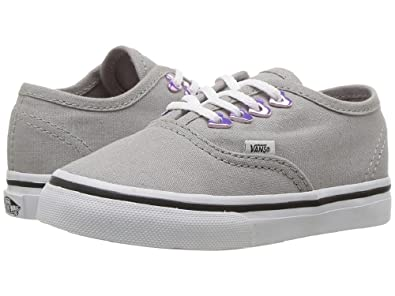 b181eb83d0 Image Unavailable. Image not available for. Color  Vans Authentic Eyelet  Hearts Grey Toddler Shoes 7.5