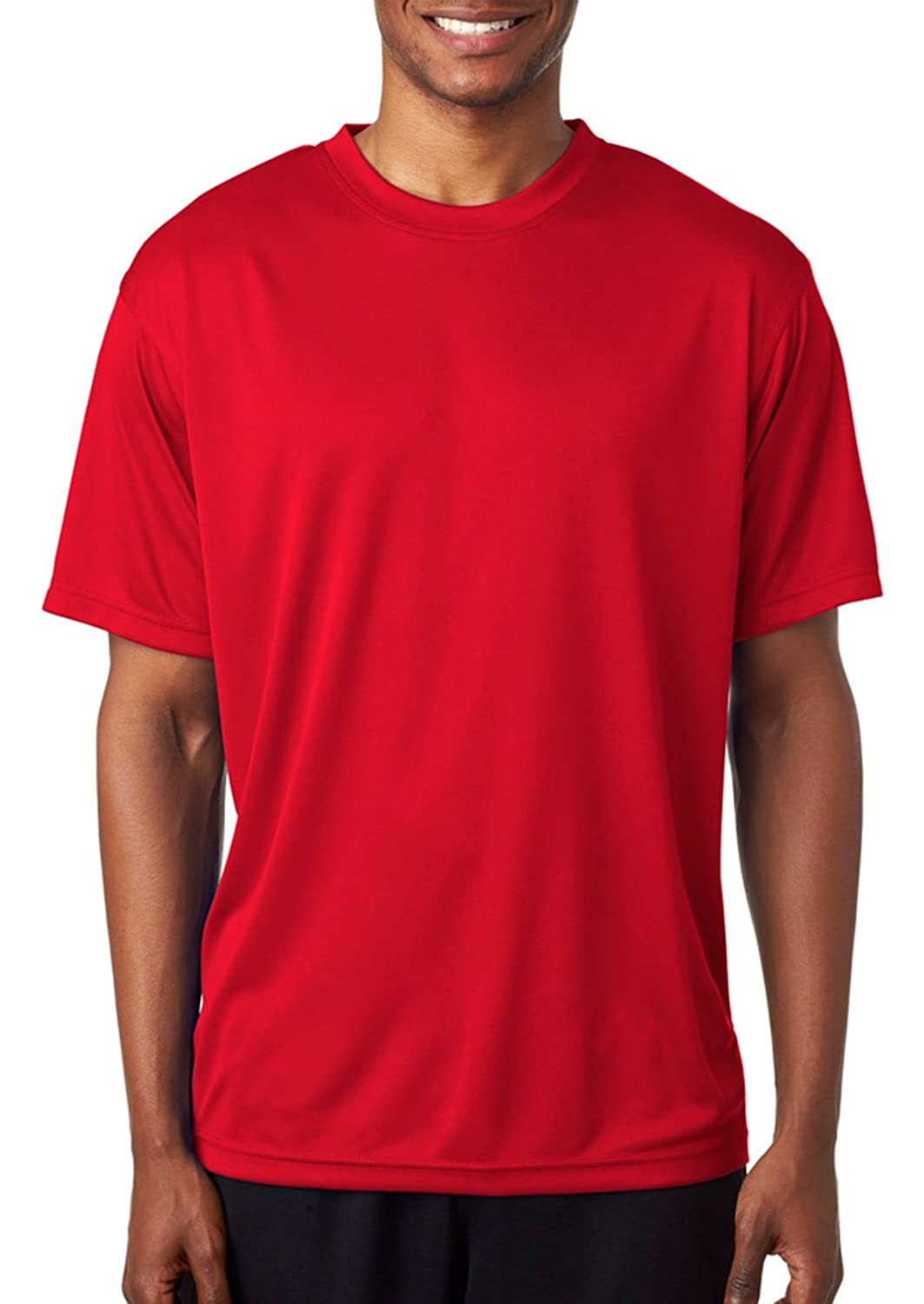 UltraClub Men's Relaxed Fit Crewneck Snag Resistant Wicking T Shirt