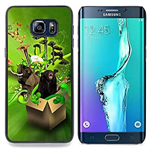 - Design Box Animals Funny/ Hard Snap On Cell Phone Case Cover - Cao - For Samsung Galaxy S6 Edge Plus