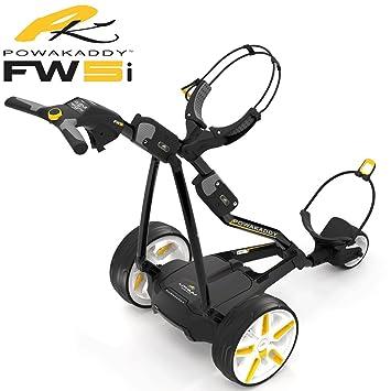 Powakaddy fw5i negro carro de golf eléctrico + 18 HOLE batería de litio + libre bolsa: Amazon.es: Deportes y aire libre
