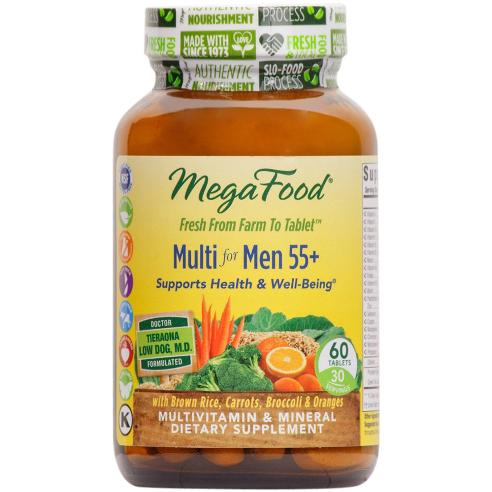 MegaFood - Multi for Men 55+, A Balanced Real Food Multivitamin, 60 Tablets (FFP)