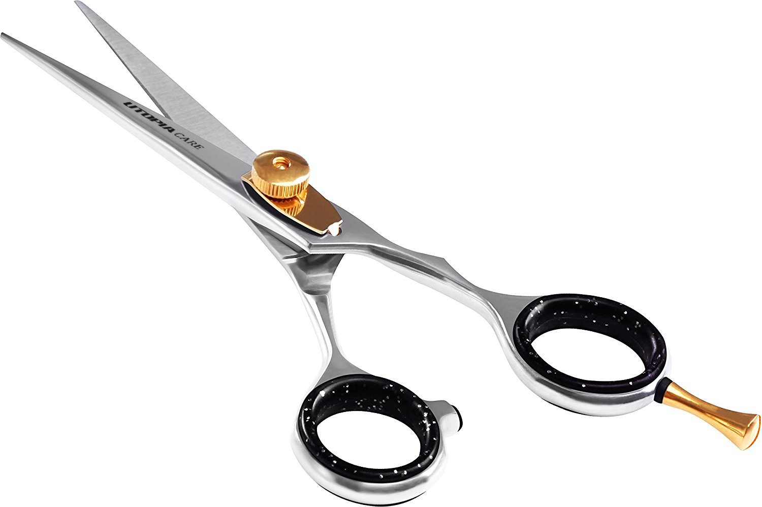 Professional Barber/Salon Razor Edge Hair Cutting Scissors/Shears (11 ½  Inch, Forged) with Fine Adjustable Tension Screw - Detachable Finger Rest -