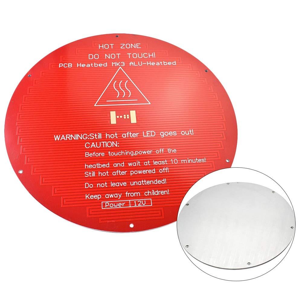 SODIAL 3D Impresora Accesorios para Plataforma Mk3 Sustrato De ...
