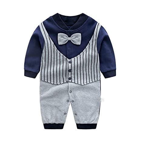 Recién nacido Pelele Bebé Niño Pijama de Algodón Mameluco Tuta Trajes 0-3 Meses