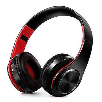 Amiubo Auriculares Bluetooth con micrófono, Auriculares inalámbricos estéreo de Alta fidelidad Plegables de Estudio con micrófono enchufable de cancelación ...