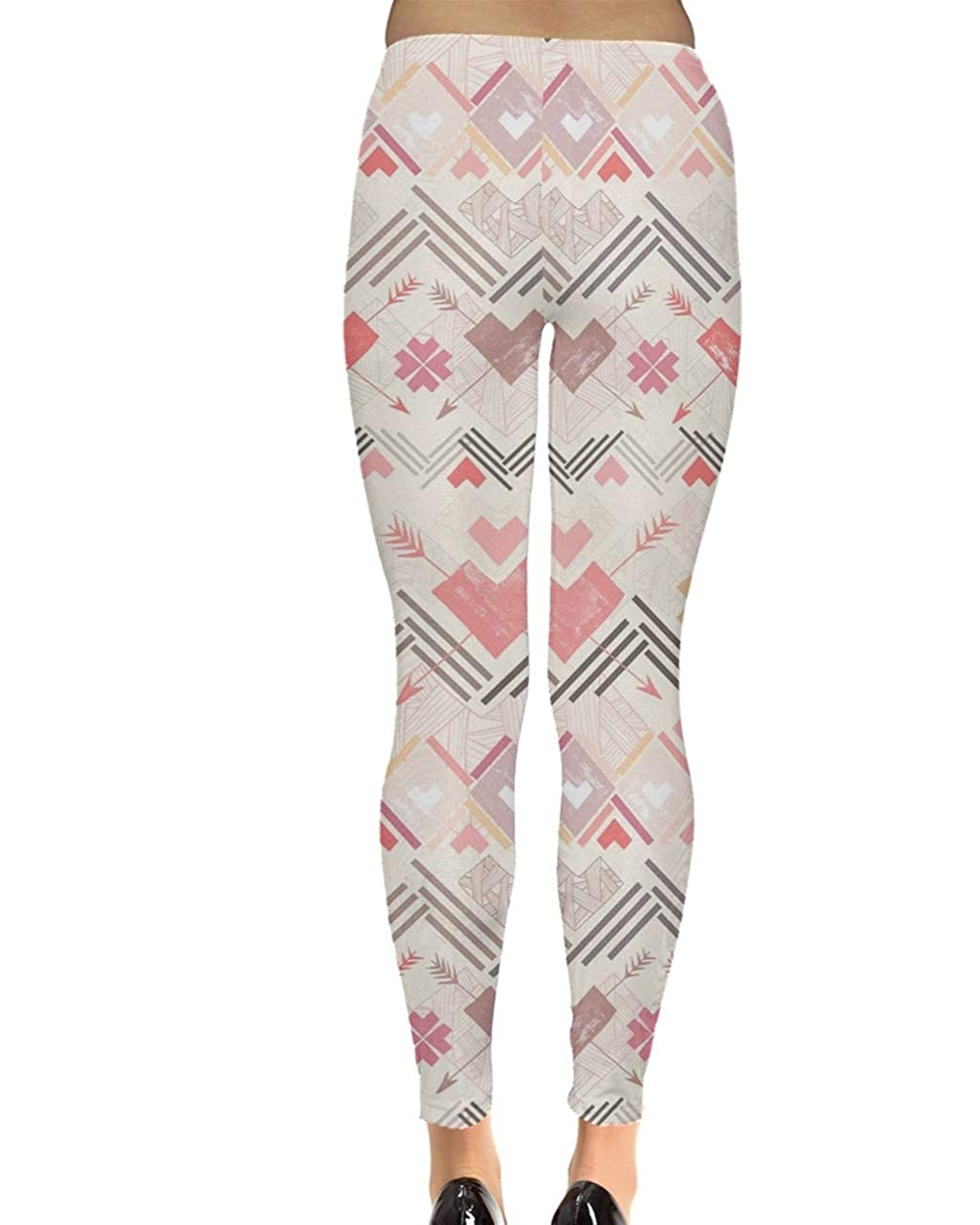 f74630d58fcea Amazon.com: CowCow Womes Stretchy Tights Red Happy Valentines Day Heart  Love Couple Sweet Leggings, XS-5XL: Clothing