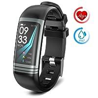 Smart Watch Fitness Tracker con Cardiofrequenzimetro Pedometro Calorie Monitoraggio del sonno IP67 Impermeabile Bluetooth Braccialetto Activity Compatibile con Android e IOS