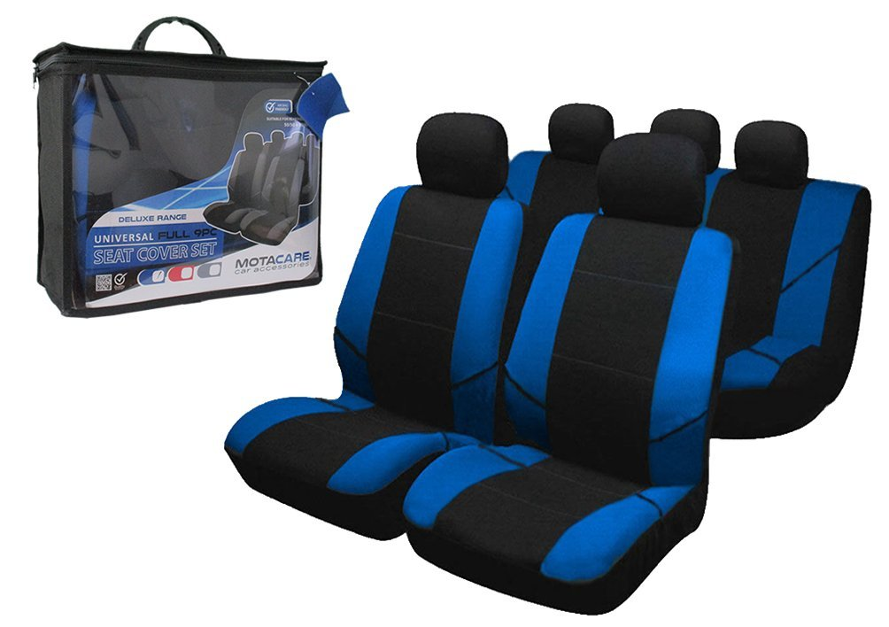 Motacare 9pce Universal Full Car Seat Cover Set - Blue OptiProducts