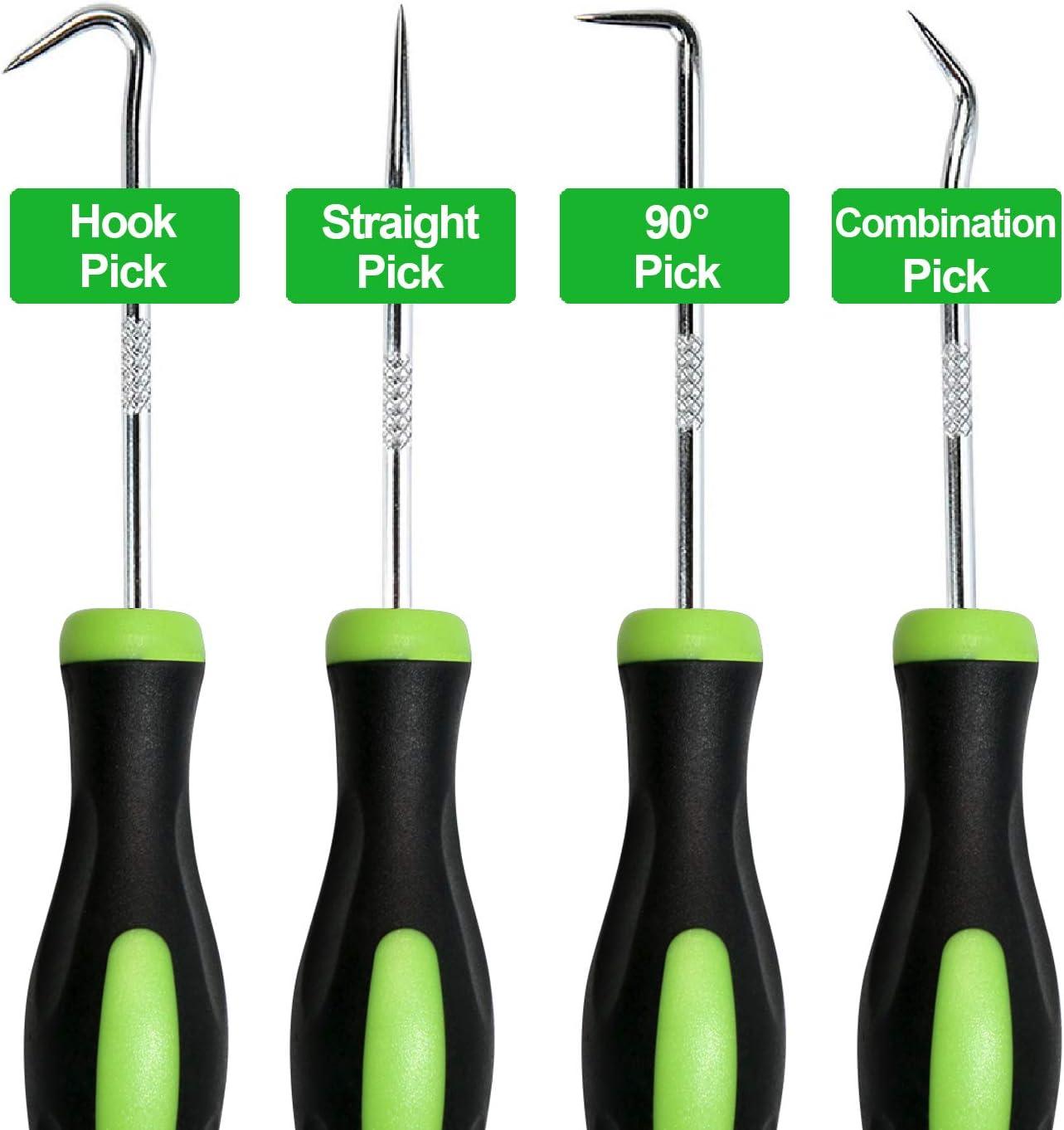 419 Pcs Rubber O-ring Kit 4 Pcs Oil Seal Screwdrivers Set Pick Hooks Hand Tools