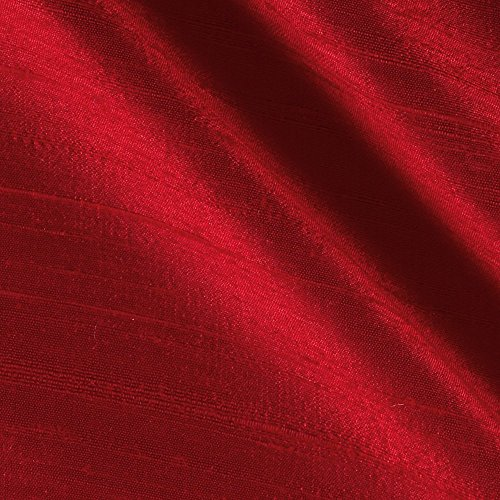 100% Hand Made Pure Thai Silk Dupioni - Rose #037 - Red Rose Dupioni Silk