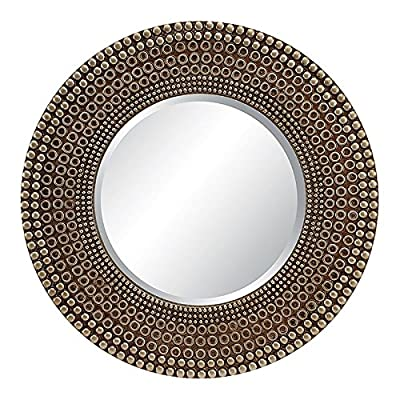 OSP Designs GC5547-ASV-osp Lyon Wall Mirror, Antique Silver - Color: Antique Silver Fabric: N/A;N/A Manufactured in China - bathroom-mirrors, bathroom-accessories, bathroom - 61i48iqzLIL. SS400  -