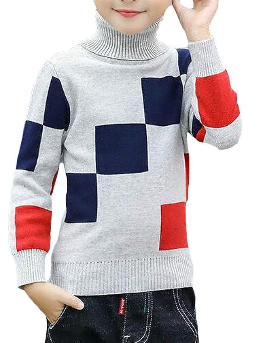 Pandapang Girls Turtle Neck Boys Cute Fashion Slim Fit Jumper Sweater