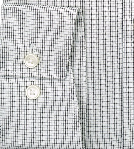 Olymp Hemd Luxor Modern Fit - Gitterkaro grau, Kragenweite:44