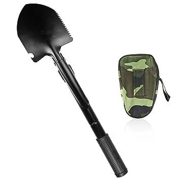 Military SAVFY ejército pala plegable pala pico para acampada detector de Metal herramienta multiusos