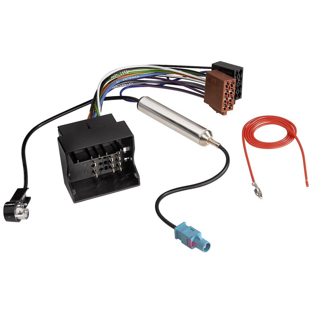 Hama Kfz-ISO-Adapter mit Phantomeinspeisung fü r AUDI + VW 00080720 Car-HiFi