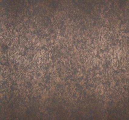 Pittura Bronzo Per Pareti.Carta Da Parato Marrone Con Riflessi Bronzo Effetto Pittura