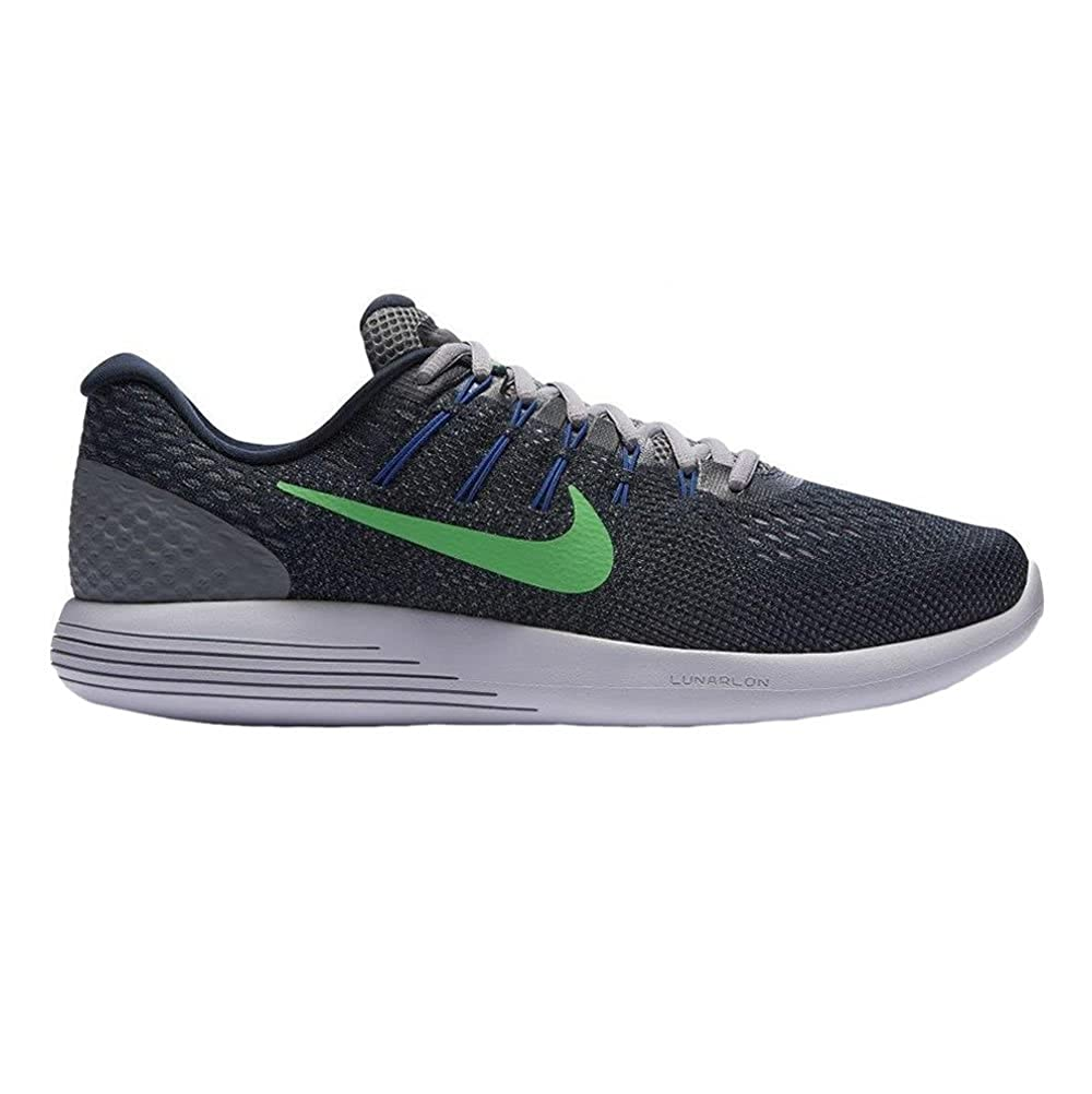 best sneakers b57fc 018d1 NIKE Lunarglide 8 - Armory Navy Electro Green  Amazon.co.uk  Shoes   Bags