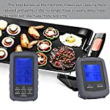 Meat thermometer digital grill oven or Highly smoker remote-reading food thermometers | The best wireless accessories for safe remote bbq grilling, kitchen cooking and smokers (gray)