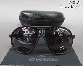7832c557d268 Image Unavailable. Image not available for. Colour: UNAKIM-Fashion Men & Women's  Retro Sunglasses Unisex Matte Frame Carrera Glasses ...