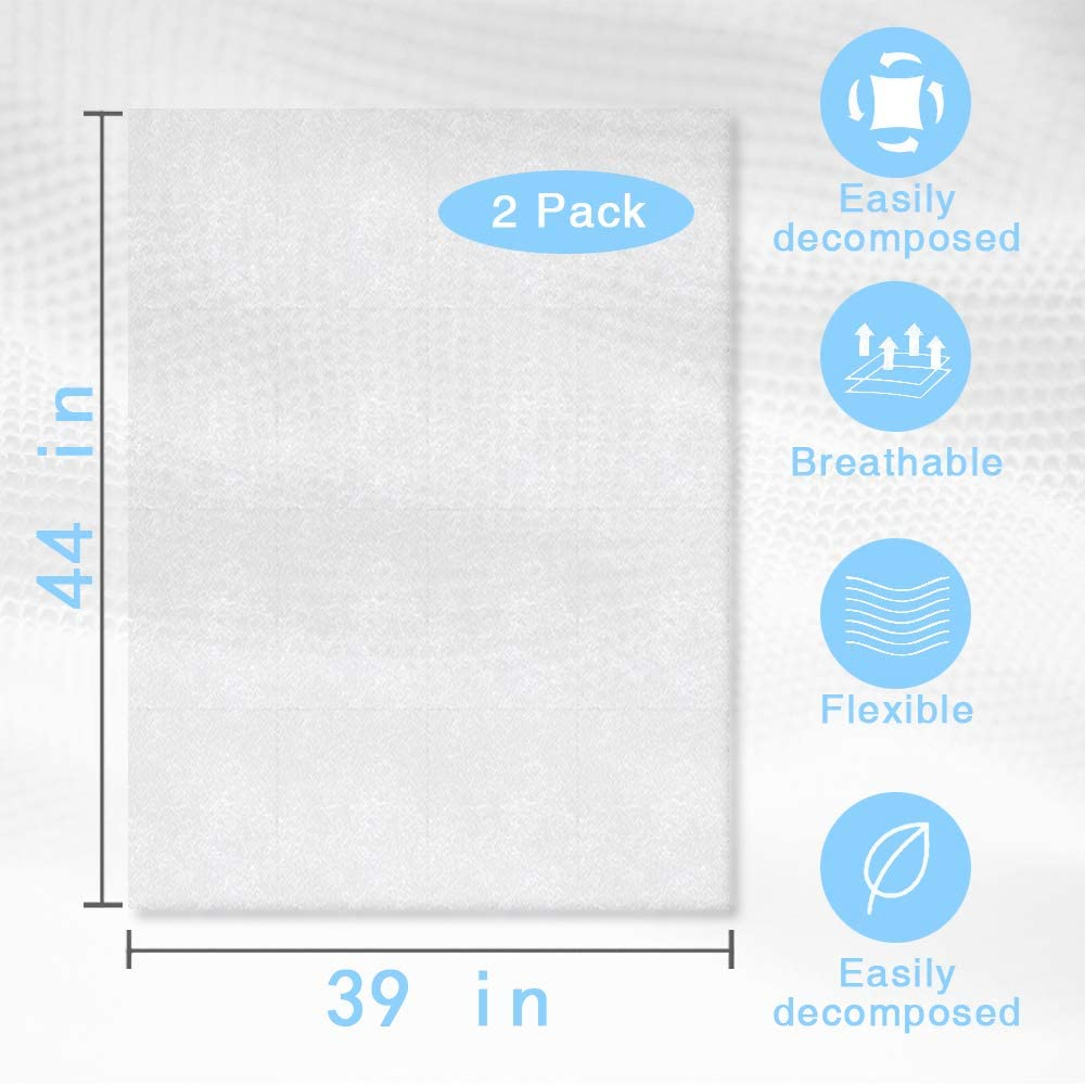 2 Pieces Fusible Interfacing for Sewing,White Double Sided Non-Woven Fusible Interfacing Lightweight for Sewing Masks DIY Craft Making(44 x 39 Inch
