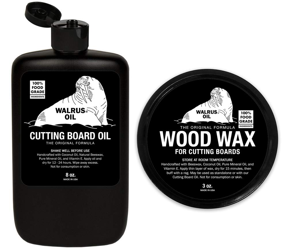 WALRUS OIL - Cutting Board Oil and Wood Wax Set. for Cutting Boards, Butcher Blocks, and Counters. 100% Food-Safe by Walrus Oil