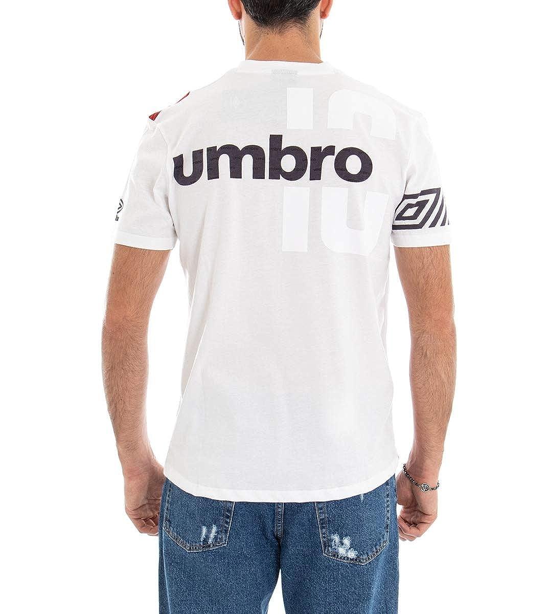 Giosal Camiseta Hombre Umbro Camiseta RAP00068B Blanca impresión ...