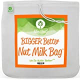"PRO QUALITY NUT MILK BAG - 12""X12"" COMMERCIAL GRADE REUSABLE - ALL PURPOSE FOOD STRAINER - Nutmilk, Juicing, Coffees - Ultra Fine Mesh Nylon Cheese Cloth - Food Grade BPA-Free - Free Recipes & Videos"
