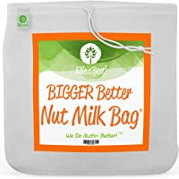 "Pro Quality Nut Milk Bag - Big 12""X12"" Commercial Grade - Reusable Almond Milk Bag & All Purpose Food Strainer - Fine…"