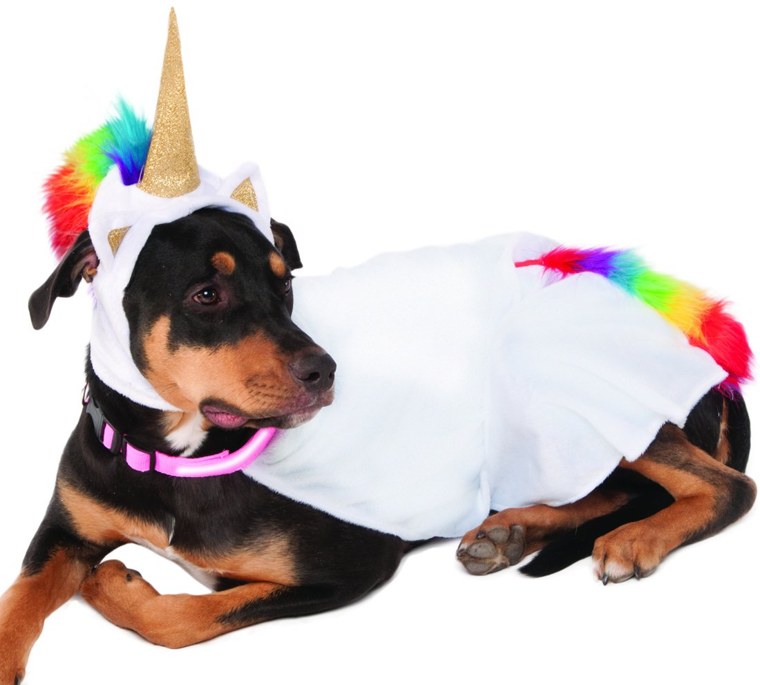 Rubie's Unicorn Cape with Hood and Light-Up Collar Pet Costume, XXX-Large