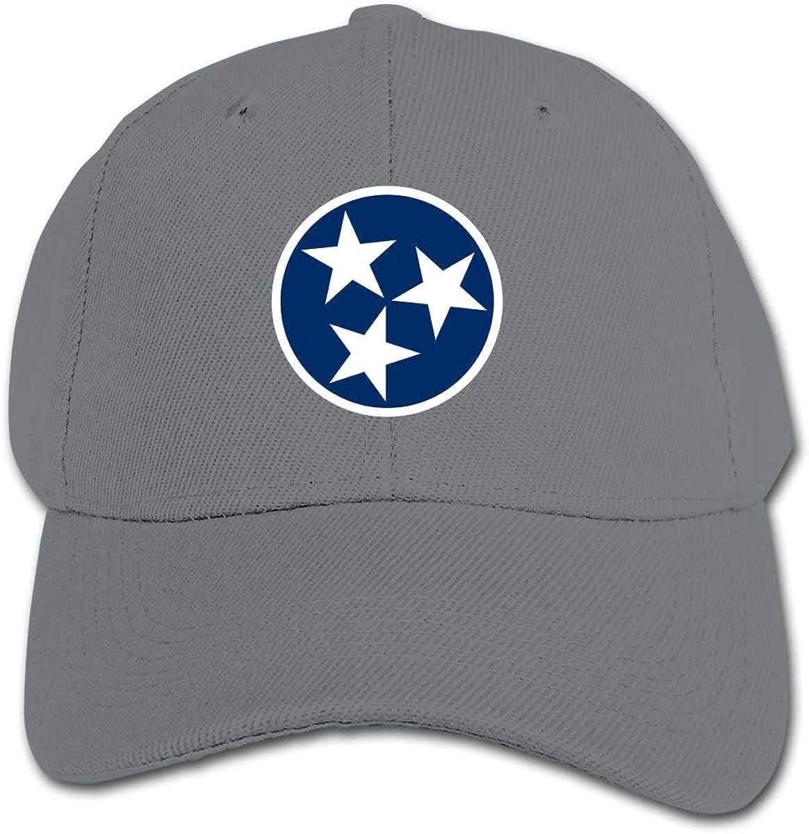 Tennessee State Flag Kids Baseball Cap Hat Unisex Toddler Sun Hat Adsjutable Trucker Hat