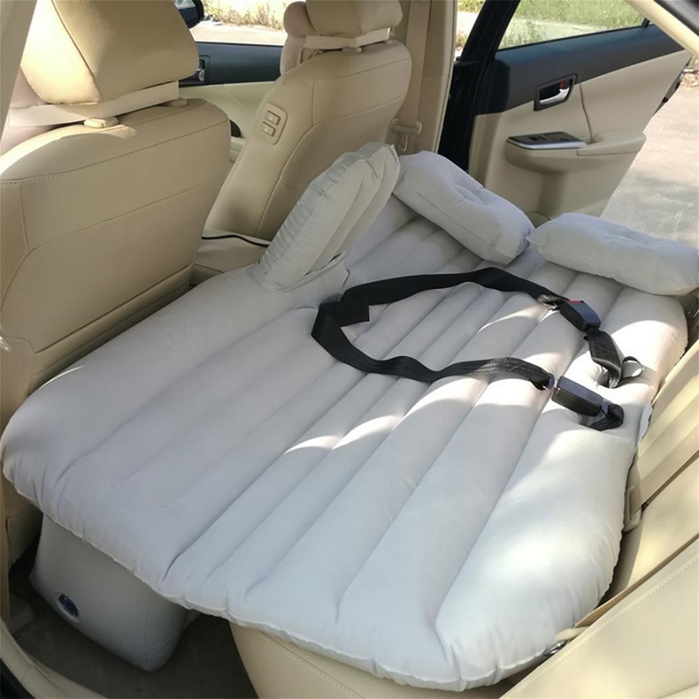 Lameila Car Travel Aufblasbare Matratze Air Bett Kissen Camping Universal SUV Extended Air Couch für Kind mit zwei Luftkissen und Sitzgürtel