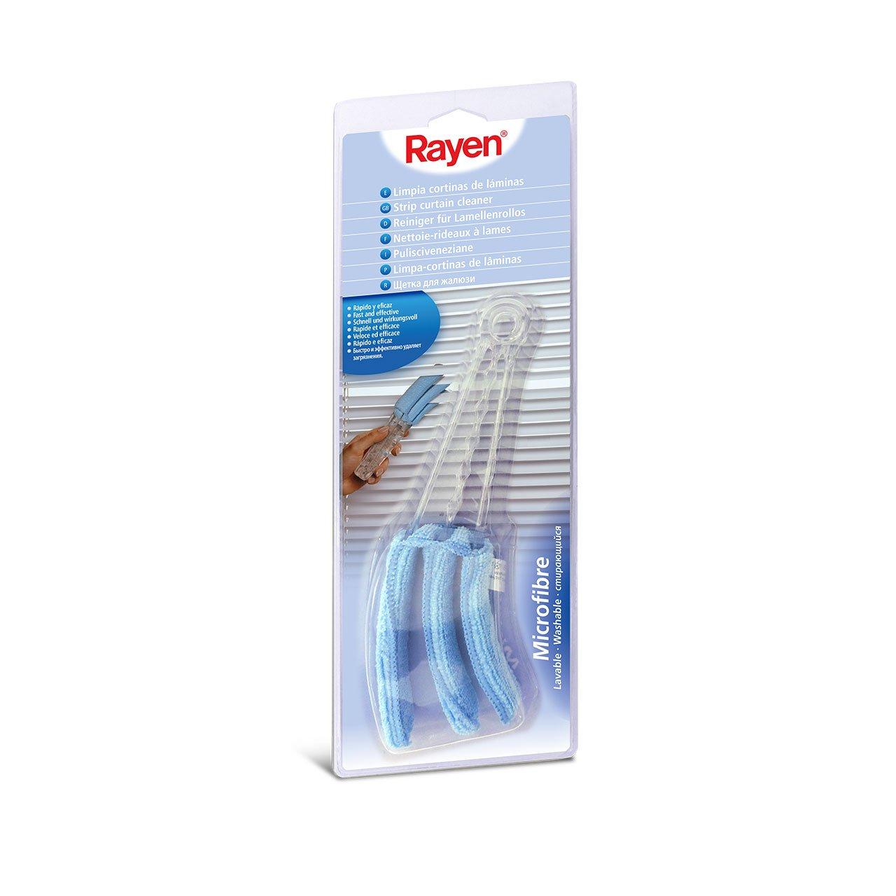 Rayen Jalousienreiniger mit Doppelklemme aus 100/% Mikrofaser und waschbar