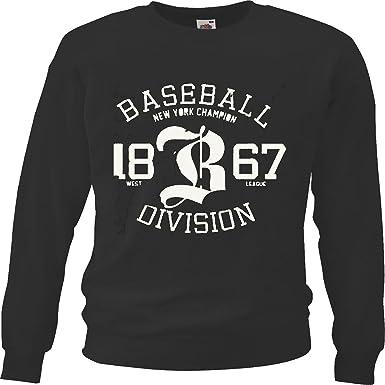 Sudaderas Suéter BÉISBOL New York Champion Ligas 1867 Oeste de la Liga de béisbol Bate de béisbol Jugador de béisbol Camiseta béisbol Equipo in Negro: Amazon.es: Ropa y accesorios