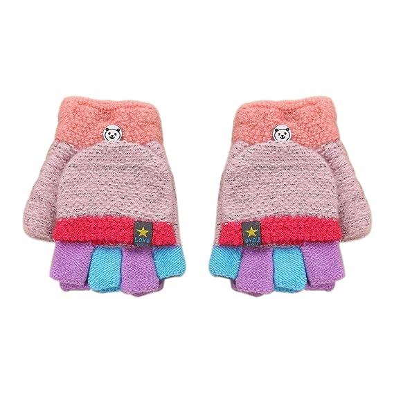 Winter Warme Baby Kinder Jungen Mädchen Babyhandschuhe Fäustlinge Mehrfarbig