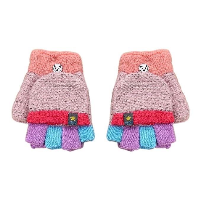 61aceac8242573 LAAT Herbst und Winter Kleinkind Jungen Mädchen Warme Handschuhe Winter Halbfinger  Handschuhe Fingerlose Fäustling Fäustlinge Fingerhandschuhe