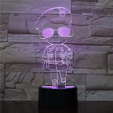 3D Luz Nocturna Cool Girl Led Night Lamp Descendientes De ...