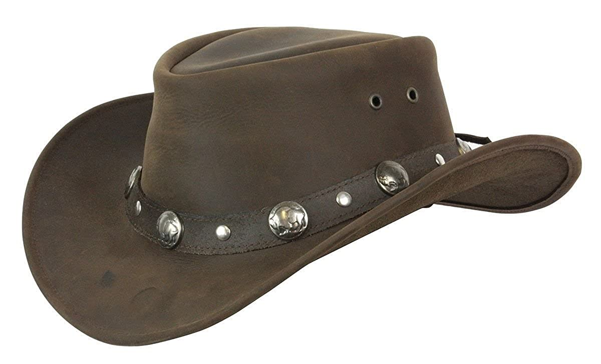 5dd0d7b7c30 Conner Hats Men s Buffalo Nickel Leather Hat at Amazon Men s Clothing store