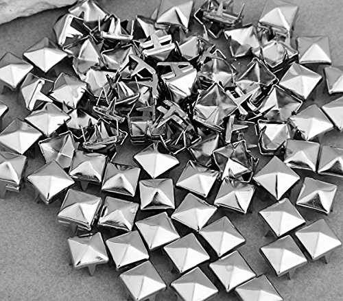 Skyllc/® 100 Silver Metal Claw Nailhead Rivet 8mm Leathercraft DIY Pyramid Studs Spots Spikes Rock Punk