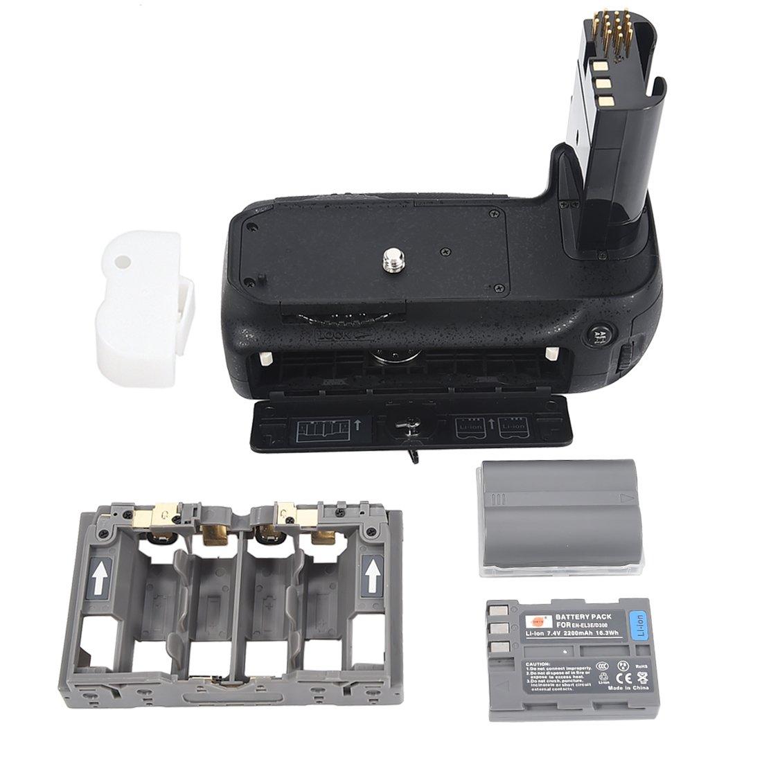 DSTE® Pro MB-D80 Vertical Battery Grip + 2x EN-EL3E for Nikon D80 D90 SLR Digital Camera DST Electron Technological Co. Ltd DTC25B2